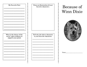 Because of Winn Dixie Story Structure Brochure