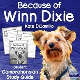 Because of Winn Dixie Student Comprehension Study Guide