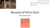 Because of Winn Dixie Study Guide for Novel Unit
