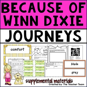 Because of Winn Dixie Journeys Fourth Grade Supplemental M