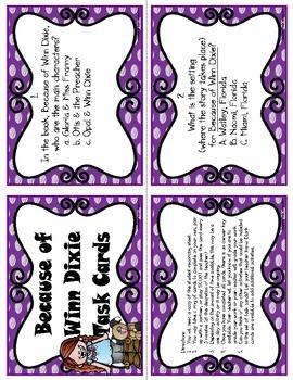 Because of Winn Dixie Task Cards (CC Aligned)