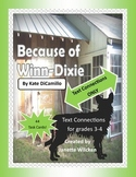 Because of Winn-Dixie Text Connections Task Cards