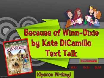 Because of Winn-Dixie Text Talk Numbered Heads Together Game