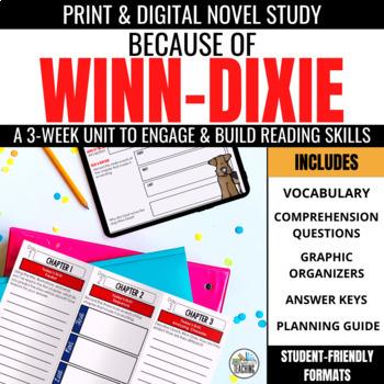 Because of Winn Dixie Novel Study Unit