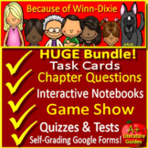 Because of Winn Dixie Distance Learning Novel Study SELF-GRADING GOOGLE FORMS!