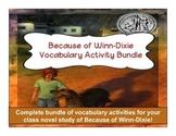 Because of Winn-Dixie Vocabulary Activity Bundle