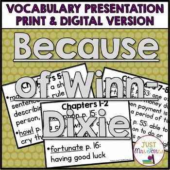 Because of Winn-Dixie Vocabulary Presentation