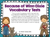 Because of Winn-Dixie Vocabulary Tests