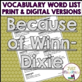 Because of Winn-Dixie Vocabulary Word List
