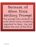 Because of Winn Dixie Writing Prompt