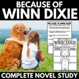 Because of Winn Dixie Novel Study Unit - Interactive Notebook