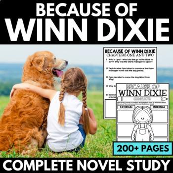 Because of Winn Dixie Novel Study Unit - Interactive Notebook