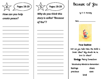 Because of You Trifold - Imagine It 2nd Grade Unit 1 Week 1