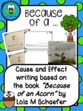 Because of an Acorn... Cause and Effect Writing
