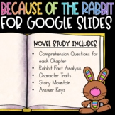 Distance Learning Because of the Rabbit Novel Study
