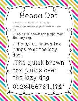 Becca Fonts
