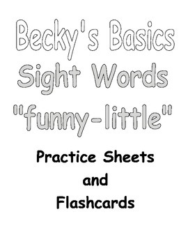 Becky's Basics Sight Words Practice Sheets &Flashcards for