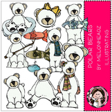 Polar Bears clip art- by Melonheadz