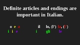 Italian Made Simple: Endings, Articles, Demonstratives and More!