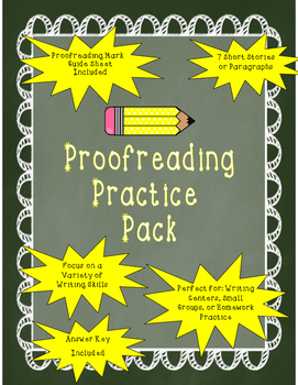 Become a Better Writer- Proofreading Practice Pack