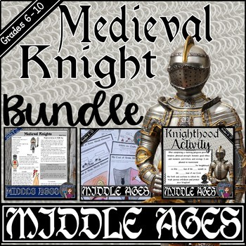 Middle Ages: Become a Knight Activity {Bundled}