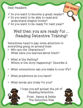 Become a Reading Detective - comprehension activities to use with any book