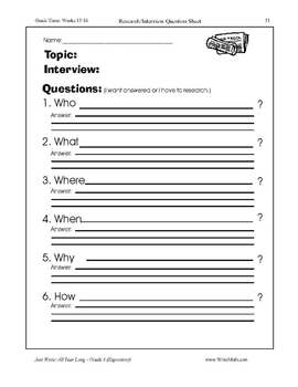 Become a Reporter Writing Activity - Expository Writng Lessons
