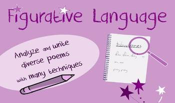 Figurative language in poetry lessons: creative writing, vocab games, analysis