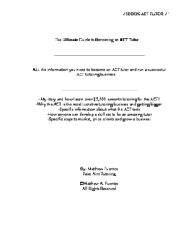 Become an ACT TUTOR EBOOK