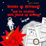 Become an astronaut and improve cursive writing: Space, 7 -11 yrs Grade 2 to 6