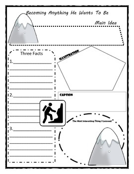 Becoming Anything He Wants to Be Story Map Graphic Organizer