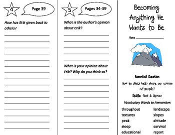Becoming Anything He Wants to Be Trifold - Journeys 3rd Grade Unit 6 Wk 3 (2011)