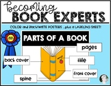 Becoming Book Experts Parts of a Book Kindergarten & First