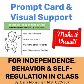 Becoming Independent in Class-What Should I do Now-Visual Prompt Card