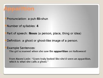Becoming Naomi Leon: Chapter 2 Vocabulary Presentation