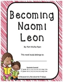 Becoming Naomi Leon Novel Study / Answer Key