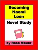 Becoming Naomi Leon Printable Chapter Questions for School or Home