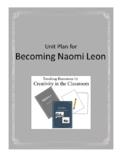 Becoming Naomi Leon Literature Unit Plus Grammar