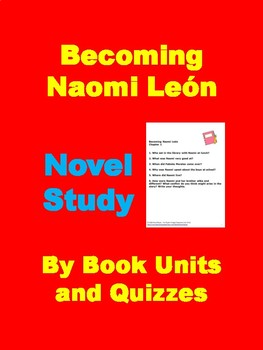 Becoming Naomi Leon Novel Study