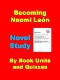 Becoming Naomi Leon Novel Study