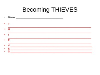 Becoming Thieves Strategy for reading nonfiction