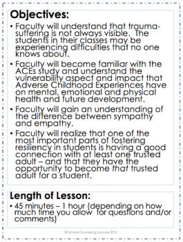"""""""Becoming Trauma Informed"""" Faculty Inservice Training for all Educators"""