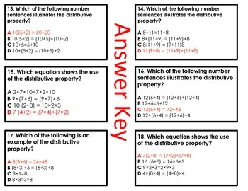 Becoming a Distributive Property Detective (Task Cards)