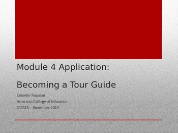 Becoming a Tour Guide