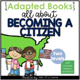 Becoming a US Citizen Adapted Book [ Level 1 and Level 2 ]   US Citizenship Book