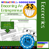 Becoming an Entrepreneur: Simulation & Interactive for Google Slides