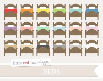 Bed Clipart; Bedroom, Household