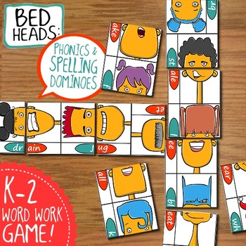Bed Heads: a Spelling and Phonics Domino Card Game
