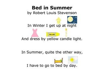 Bed In Summer by Robert Louis Stevenson - Modified Poem