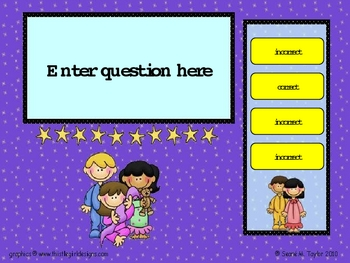 Bed Time Kids PowerPoint Game Template